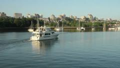 False Creek Pleasure Yacht Motoring, Vancouver Stock Footage