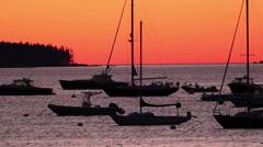 Daybreak in Maine harbor. Stock Footage