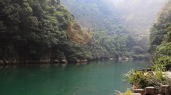 Lake and valley Stock Footage