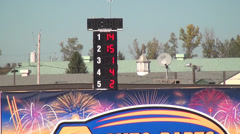 Lap Counter, Time, Speed, Motorsports Stock Footage