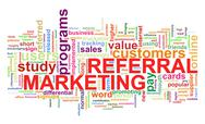 Stock Illustration of word tags of referral marketing
