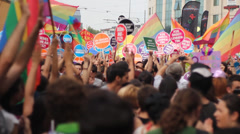 LGBT Supporting Gezi Park Protests Stock Footage