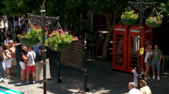 traditional red phone boxes in Gibraltar,  Stock Footage