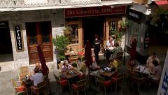 popular pub on Main Street,Gibraltar,  Stock Footage