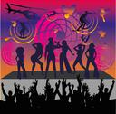 Stock Illustration of afro disco girls vector art