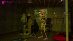 3D Cartoon - Halloween Dungeon (with text) Stock Footage
