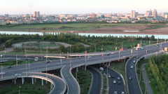Highway in Astana Stock Footage