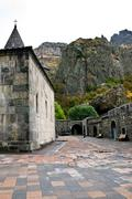 Medieval geghard monastery in armenia Stock Photos