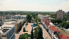Cityscape view in Hungary Stock Footage