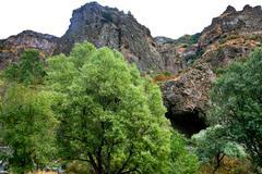 Medieval geghard monastery in armenia Stock Photos