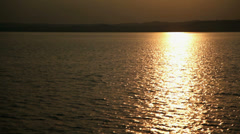 Sunset view on Lake Balaton in Hungary Stock Footage