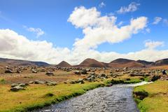 Stock Photo of Cotopaxi National Park In Ecuador Huge Rock Are Dispersed Miles Away From A