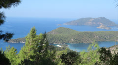 Panorama of oludeniz blue lagoon beach turkey Stock Footage