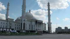 Astana mosque, Kazakhstan Stock Footage