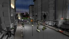 Halloween Zombie Town - 3DCartoon Stock Footage
