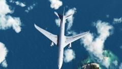 HD - Airplane over the sea Stock Footage