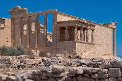 the ruins of the temple of aphrodite. - stock photo