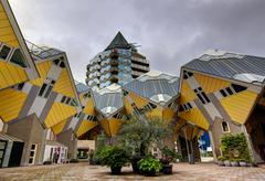 Cubic houses Rotterdam Holland - stock photo