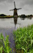 Holland mill - stock photo