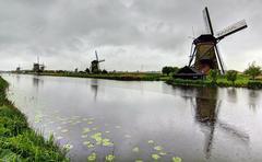Holland mills landscape - stock photo