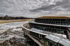 The Hague Beach architecture - stock photo