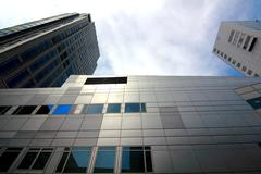 Rotterdam Skyscrapers Stock Photos