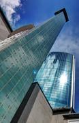 Rotterdam Glass Skyscrapers Stock Photos