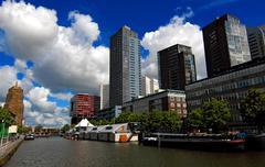 Rotterdam City view Stock Photos