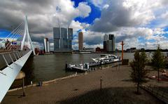 Rotterdam City view - stock photo