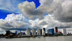Rotterdam cityscape - stock photo