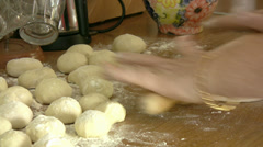 Woman hands kneading dough Stock Footage