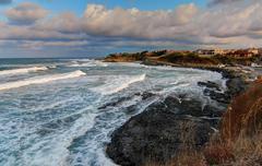 Sea view landscape - stock photo