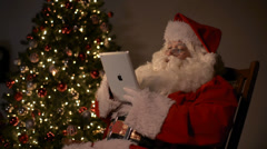 Santa Tablet Chair Stock Footage