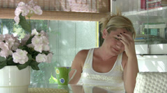 Woman under stress - stock footage