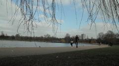 People walking in hyde park london Stock Footage