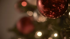 Red Christmas balls Stock Footage