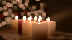 Candle christmas push Stock Footage