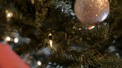 Christmas tree pan Stock Footage