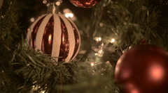 Christmas ball stripes Stock Footage
