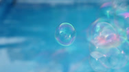 Stock Video Footage of Soap bubbles at pool