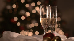 Holidays champagne Stock Footage