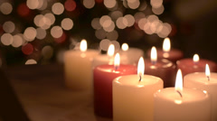 Cristmas Candles Stock Footage