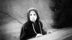 Retro Evil Masked Killer Film Look 3661 Stock Footage