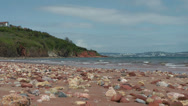 Stock Video Footage of Beach at Broadsands, near Paington, Devon, United Kingdom