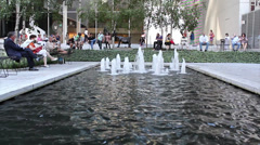 MoMA (Museum of Modern Art) Garden Fountain view, New York City Stock Footage