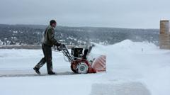 Snow blower Stock Footage