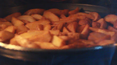 Holiday and Freetime Elements - Cooked Potatoes - stock footage