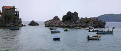 adriatic fishing town - stock photo