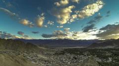 India Ladakh Leh city time lapse Stock Footage