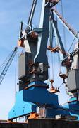 crane in the harbor - stock photo